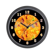 "<b>SERIES G:</b> ""A Touch of Orange"" Wall Clock"