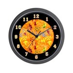 "SERIES G:  ""A Touch of Orange"" Wall Clock"