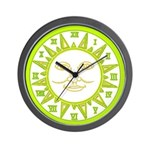 SUN SERIES:  (Yellow Green) Wall Clock