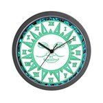SUN SERIES:  (Turq. Gr.) Wall Clock