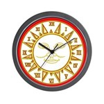 SUN SERIES:  (Red & Gold) Wall Clock