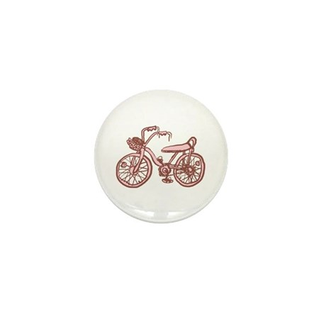 Retro Pink Bike Mini Button