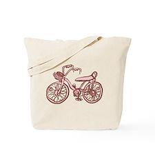Retro Pink Bike Tote Bag