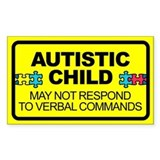Autism car decals Single