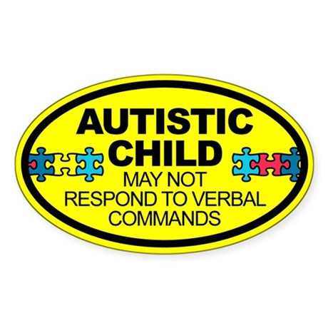 Autism Child Car Decal Sticker (Oval 10 pk)