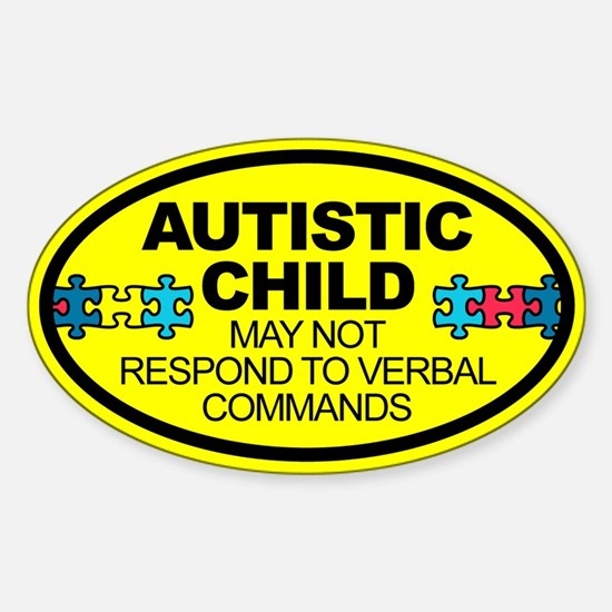 Autism Child Car Decal Sticker (Oval)