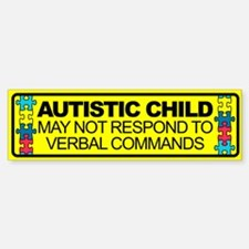 Autism Child Car Decal Bumper Bumper Sticker