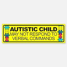 Autism Child Car Decal Sticker (Bumper)