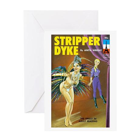 Stripper Dyke Greeting Card