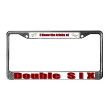 Double Six License Plate Frame