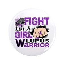 """Fight Like A Girl Lupus 3.5"""" Button (100 pack)"""