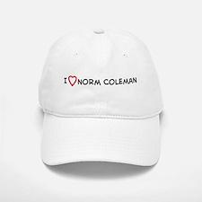 I Love Norm Coleman Baseball Baseball Cap