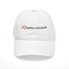 I Love Norm Coleman Baseball Cap