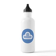White Cloud Symbol Water Bottle