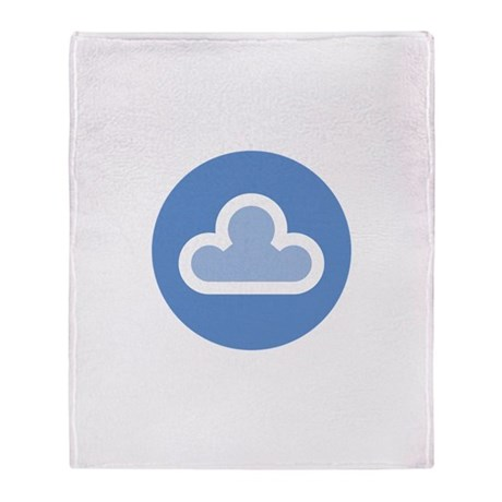 White Cloud Symbol Throw Blanket
