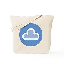 White Cloud Symbol Tote Bag