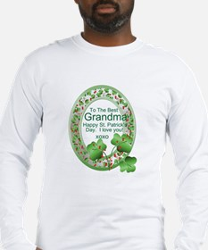 St. Pat's Day Gifts For Grand Long Sleeve T-Shirt