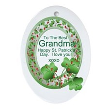 St. Pat's Day Gifts For Grand Ornament (Oval)