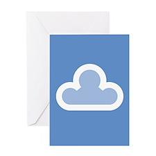 White Cloud Symbol Greeting Card