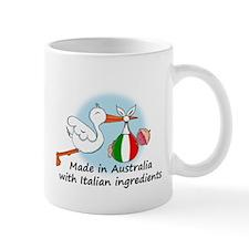 Stork Baby Italy Australia Mug