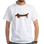 One Weiner Dog White T-Shirt