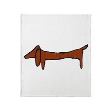 One Weiner Dog Throw Blanket