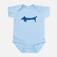 Blue Dachshund Infant Bodysuit