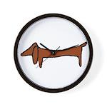 One Weiner Dog Wall Clock