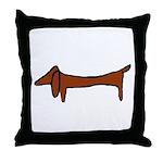 One Weiner Dog Throw Pillow