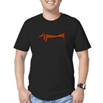 One Weiner Dog Men's Fitted T-Shirt (dark)