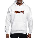 One Weiner Dog Hooded Sweatshirt