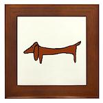 One Weiner Dog Framed Tile
