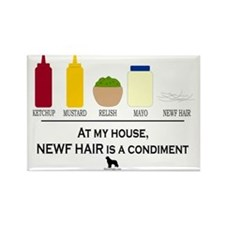 Newf Hair is a Condiment Rectangle Magnet
