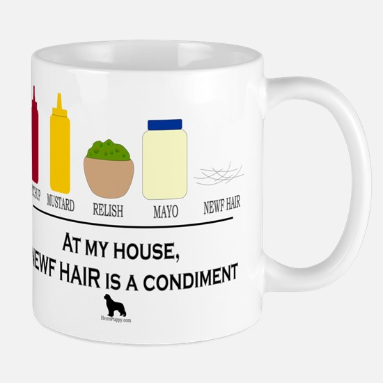Newf Hair is a Condiment Mug