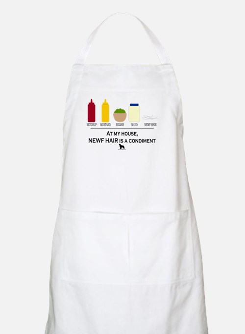 Newf Hair is a Condiment Apron