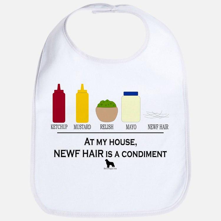 Newf Hair is a Condiment Bib