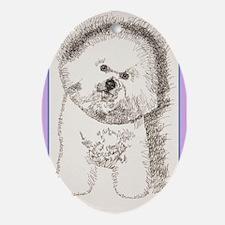 Bichon Frise Ornament (Oval)