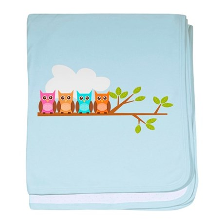 Four Owls baby blanket