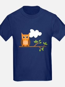 Orange Owl on Branch T