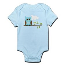 Blue Owl on Branch Infant Bodysuit