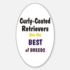 Curly-Coated Retriever Best Oval Decal