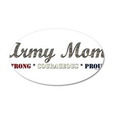 Army Mom:Strong Courageous Pr 38.5 x 24.5 Oval Wal