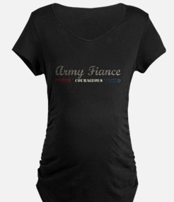 Army Fiance:Strong Courageous T-Shirt