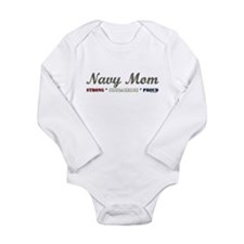 Navy Mom:Strong Courageous Pr Long Sleeve Infant B