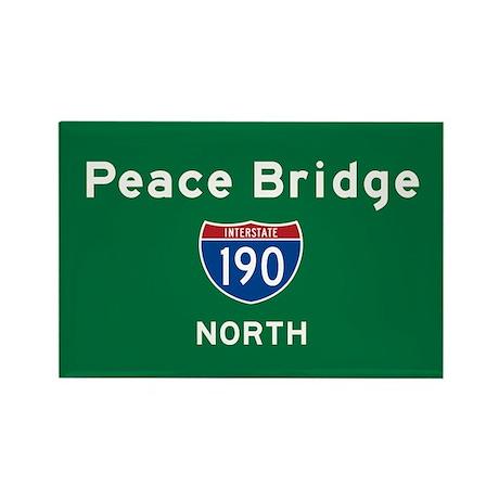 Peace Bridge 190 Rectangle Magnet