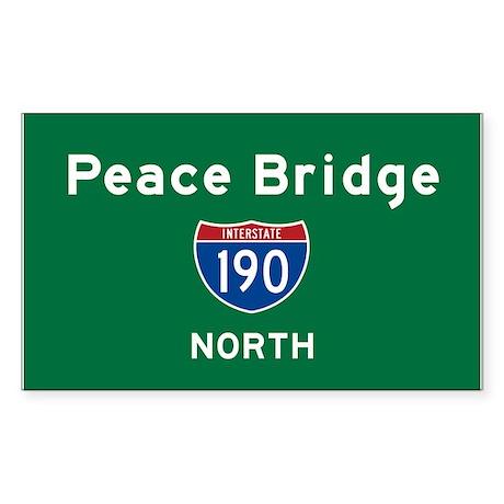 Peace Bridge 190 Sticker (Rectangle)