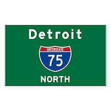 Detroit 75 Decal
