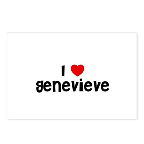 I * Genevieve Postcards (Package of 8)