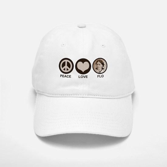 Peace Love Flo Baseball Baseball Cap