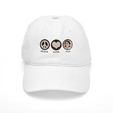 Peace Love Flo Baseball Cap